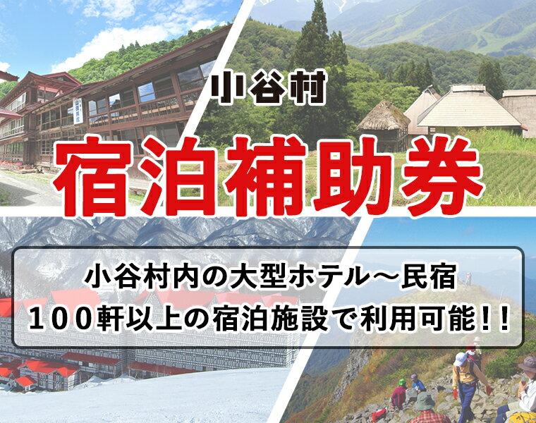 小谷村宿泊補助券60,000円分 【ふるさと納税】旅してみよう!小谷村へ