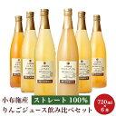 【ふるさと納税】 小布施産りんごジュース飲み比べ6種セット ...
