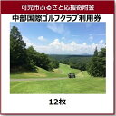 【ふるさと納税】中部国際ゴルフクラブ利用券(12枚)