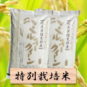 【ふるさと納税】特別栽培米ミルキークーン 精米20kg(分搗き可)または 玄米(22Kg) 29年産