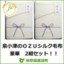 【ふるさと納税】シルク毛布100%OZU絹暖かい寝具布団2セットおまけ付