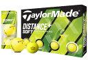 【ふるさと納税】※ゴルフボール テーラーメイド ディスタンス+ソフト(マットイエロー)3ダース36球セット