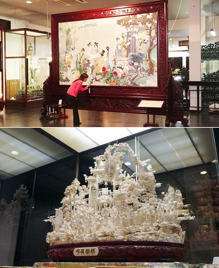 象牙と石の彫刻美術館ジュエルピア 入館券(大人2名様)【ふるさと納税】