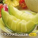 【ふるさと納税】クラウンメロン(白上級)1玉 箱入り 【果物類・メロン青肉・静岡県産・くだもの・フル