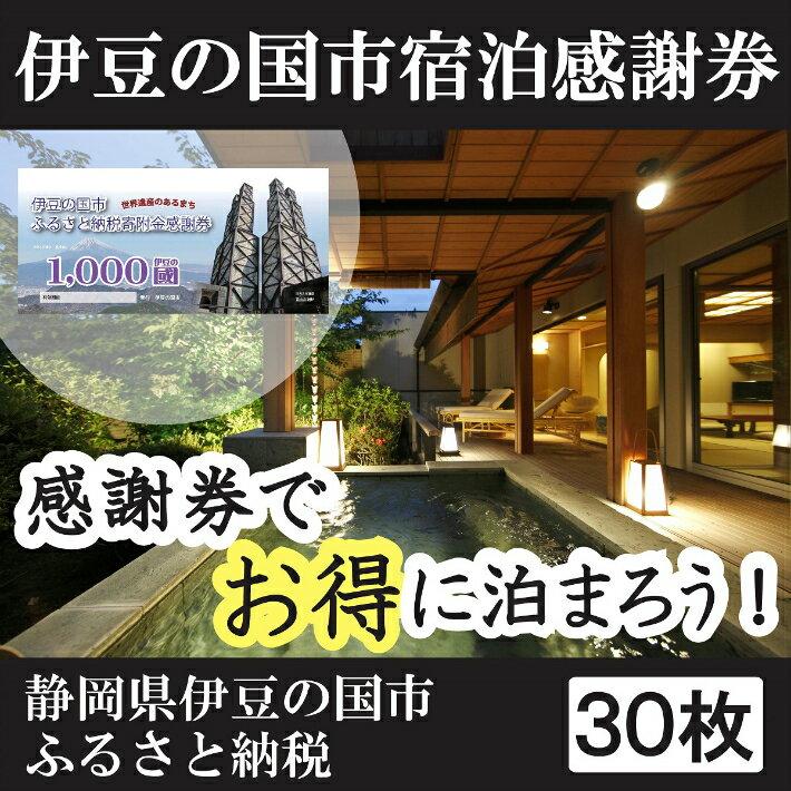 【ふるさと納税】100-001 伊豆の国市宿泊感謝券(30枚)