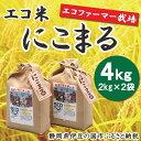 【ふるさと納税】005-003 エコファーマー栽培米!「エコ米 にこまる」(2kg×2袋)