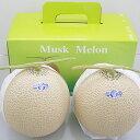 【ふるさと納税】クラウンメロン(白クラス2玉入) 【果物類・...