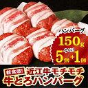 【ふるさと納税】新食感!近江牛モチモチ牛とろハンバーグ(半製...