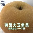 [ふるさと納税]R150B 特選大玉 赤梨おまかせ6個〜7個...