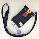 【ふるさと納税】キッズ向け携帯電話カバー【Pulllu-ぷるる‐】&ネックストラップセット(デニム)B