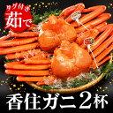 【ふるさと納税】(期間限定)タグ付き香住ガニ(茹で)約800g×2枚 / かに カニ 蟹