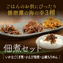 【ふるさと納税】佃煮セット(いかなごくぎ煮、小えび佃煮、山椒...