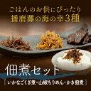 【ふるさと納税】佃煮セット(くぎ煮、山椒ちりめん、かき) 【...