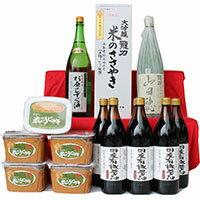 【ふるさと納税】104 国産有機醤油・米こうじ味噌・奥播州人気の地酒セット