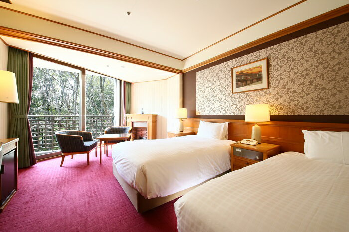【ふるさと納税】C-14 奈良ホテル 新館スタンダードツインペア宿泊券<1泊夕朝食付>