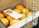 【ふるさと納税】たっぷりたねなし柿ダンボール7.5kg(32〜36コ程度)※着日時はご指定いただけません