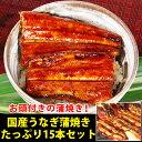 【ふるさと納税】国産うなぎ蒲焼15本セット