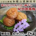 【ふるさと納税】紀州南高梅 白干し梅 2kg
