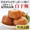 【ふるさと納税】紀州南高梅 特選A級 白干梅(梅干し)1kg...