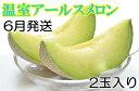 【ふるさと納税】[6月発送]人気の温室アールスメロン2玉入り...