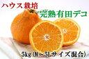 【ふるさと納税】【ハウス栽培】完熟有田デコ(不知火)約5kg...