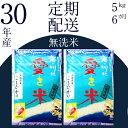 【ふるさと納税】 BG無洗米(定期)コシヒカリ 5kg/6ヵ