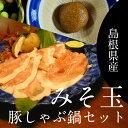 【ふるさと納税】 みそ玉豚しゃぶ鍋セット(豚肉300g)【1...