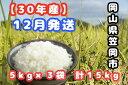【ふるさと納税】R30-12 30年産新米「笠岡ふるさと米」15kg(12月発送)