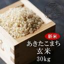 【ふるさと納税】<令和3年産・新米>G30 おおがや米 あきたこまち 玄米30kg
