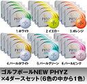 【ふるさと納税】ゴルフボール『NEW PHYZ』×4ダース