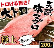 【ふるさと納税】fi044 トロける旨さ!マグロの王様♪天然本マグロの大トロ200g程度 寄付額10,000円