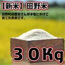 【ふるさと納税】平成30年産 田野米 30Kg 高知県田野町...