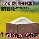 【ふるさと納税】定期便 平成30年産 田野米 15Kg×6回...