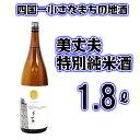 【ふるさと納税】〜四国一小さなまちの地酒〜 美丈夫(びじょうふ) 特別純米酒 1800ml 1本 毎日飲んでも飽きのこない飲みやすい日本酒です。