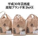 【ふるさと納税】高知ブランド米 2kg×3(ヒノヒカリ・にこ...