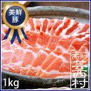 【ふるさと納税】美鮮豚(豚肩ロース・豚バラ)しゃぶしゃぶ1kgセット豚肉 鍋 メガ盛り 送料無料 特産品 高知県産 【SaNeYam】