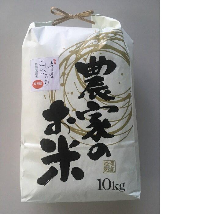 【ふるさと納税】特別栽培米こしひかり 10kg×3回発送