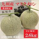【ふるさと納税】【A-132】九州産マスクメロン(温室・2玉