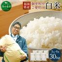 【ふるさと納税】福岡県産 白米 30kg (5kg×6袋) ...