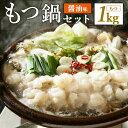 【ふるさと納税】【A-048】博多もつ鍋セット 5人前×2セット 10人前 1kg スープ 30g×...