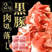 【ふるさと納税】【数量限定】九州産 黒豚切り落とし 2kg フードアドバイザー厳選! 500g×4パック 豚肉 切り落とし 国産 豚肉 冷凍
