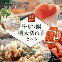 【ふるさと納税】送料無料!博多若杉牛もつ鍋(4〜5人前)と明...