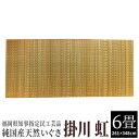 【ふるさと納税】純国産天然いぐさ 「掛川 虹」6畳(黄色) 02-DC-4501r