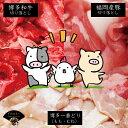 【ふるさと納税】博多和牛 博多一番どり 福岡県産豚 便利な3兄弟 送料込