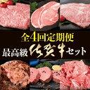 【ふるさと納税】W-1 最高級の佐賀牛で最高級の幸せを♪【全4回定期便お届け】総計9.65kg