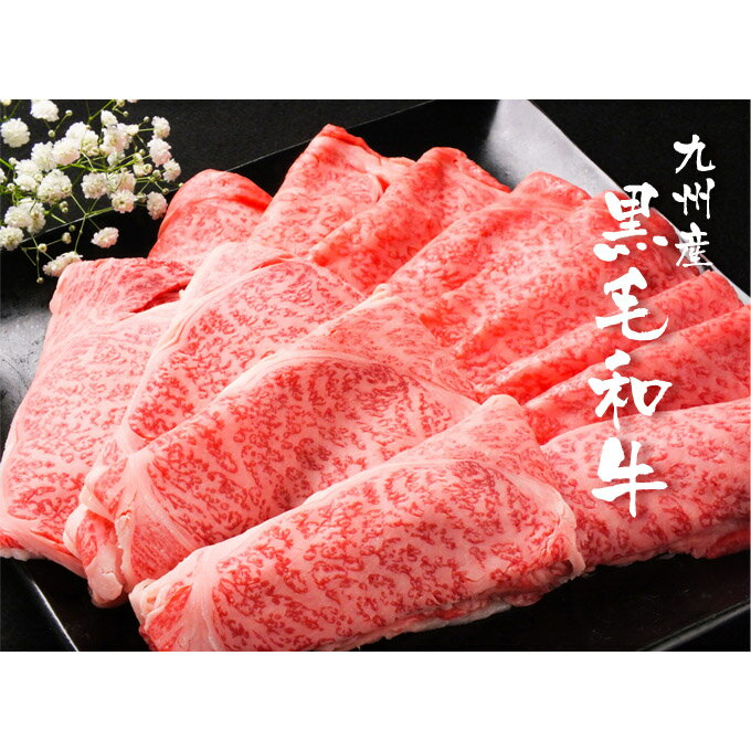【ふるさと納税】九州産黒毛和牛 ロース・スライス 1kg(E2)