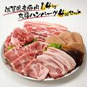 【ふるさと納税】丸福 佐賀県産豚肉1.4kgと丸福ハンバーグ...
