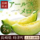 【ふるさと納税】長崎県産 アールスメロン 4L×2玉...