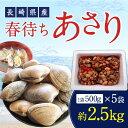 【ふるさと納税】長崎県産 春待ちあさり 約2.5kg 2月上...