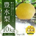 【ふるさと納税】豊水梨 10kg 5kg×2箱 20~28玉...